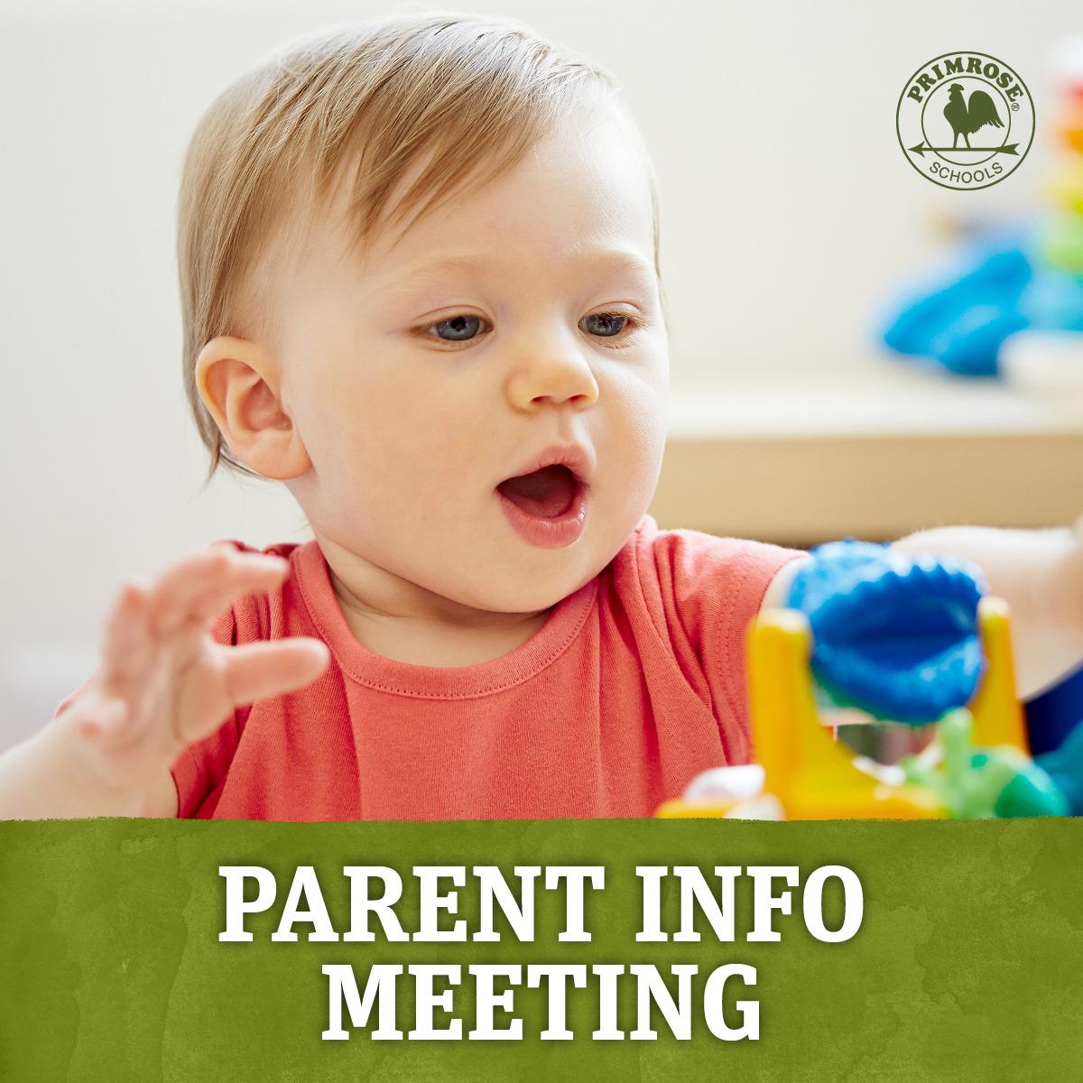 Parent Information Meeting Website Graphic