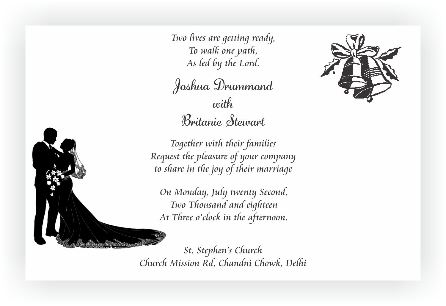 Christian Wedding Invitation Wordings – CHOCOCRAFT