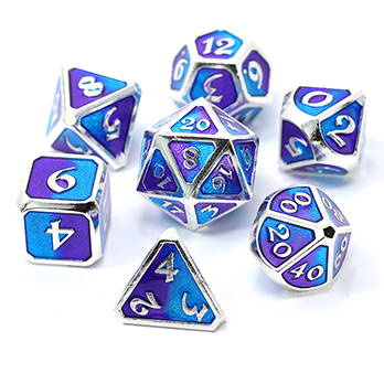 D20 D12 D10 D6 D4 Dice Gold Dice Dnd Metal Dice| D+D Dice\uff5cDungeons And Dragons Set Of Metal Dice Rainbow Dice Tabletop Gaming Dice