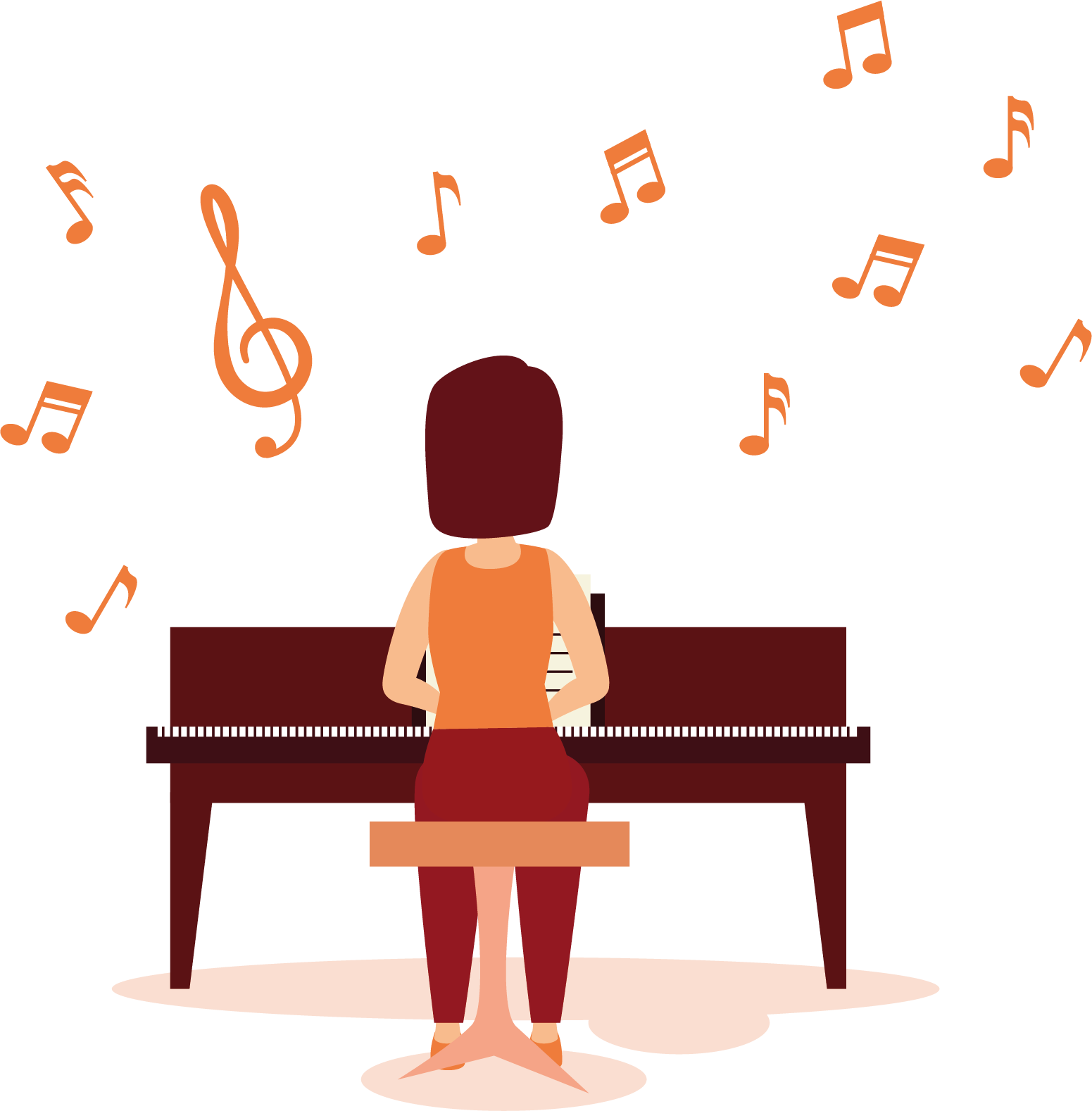 Piano tocar