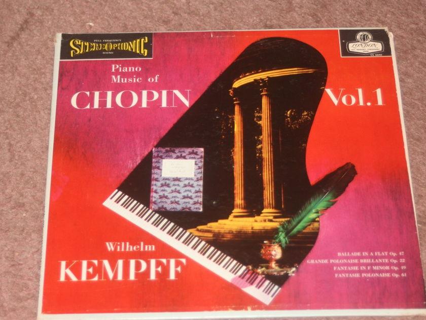Wilhem Kempff - Piano Music of Chopin London CS 6040  TAS Blue Back FFSS