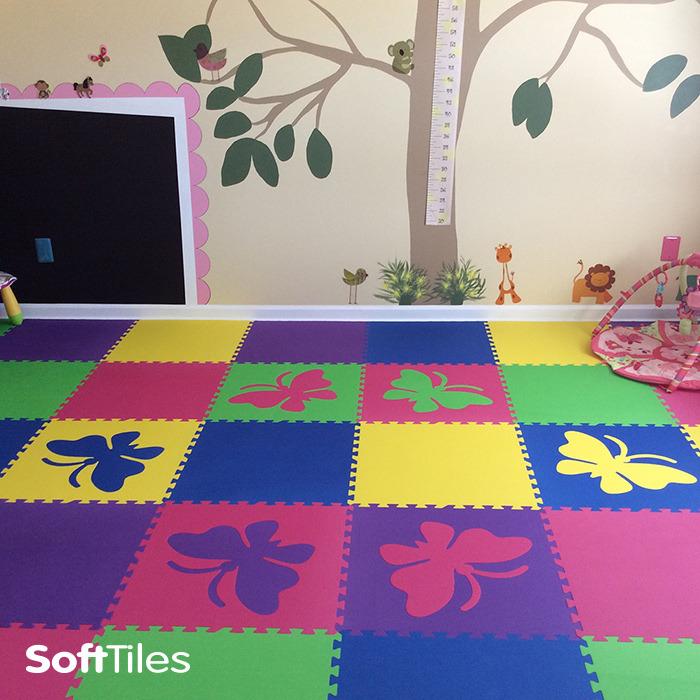 Foam Floor Mats Kids Butterfly Foam Mats Softtiles