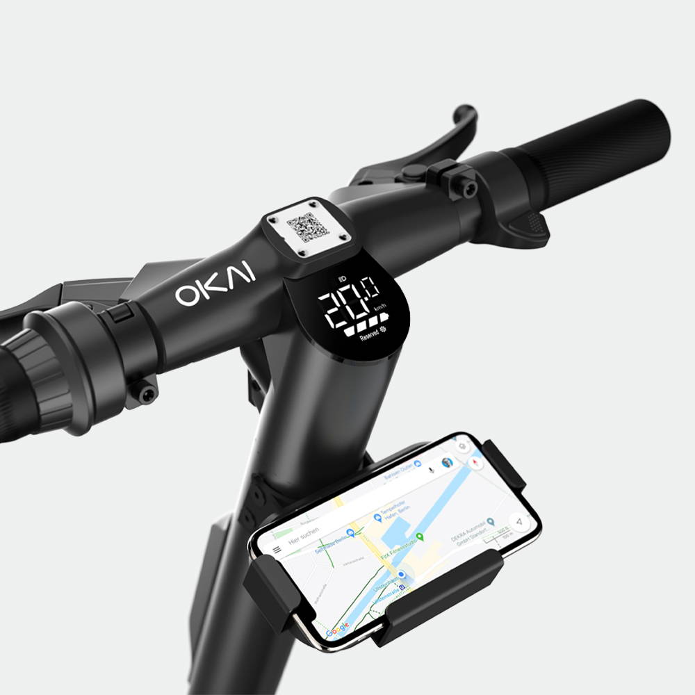 okai-electric-scooter-sharing-es400-scooter-phone-holder-mobile