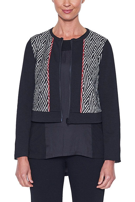 THREADZ JACQUARD CARDIGAN