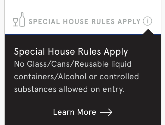 House Rules & Code of Conduct | Hollywood Bowl