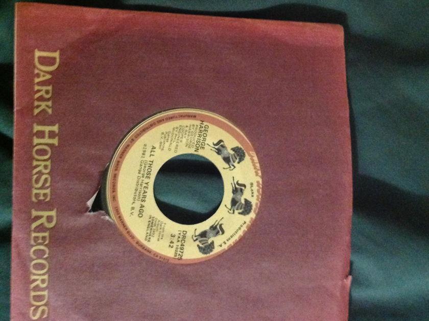 George Harrison - All Those Years Ago 45 NM