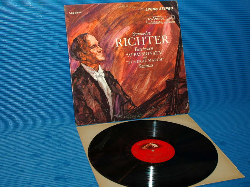 """BEETHOVEN/Richter -  - """"Appassionata & Funeral March Sonatas"""" - RCA 'Shaded Dog' 1960 1S/1S"""