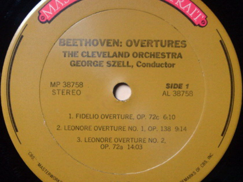 ★Audiophile★ CBS / SZELL, - Beethoven Overtures, MINT!