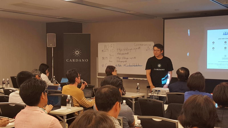 Cardano help desk tour arrives in Tokyo
