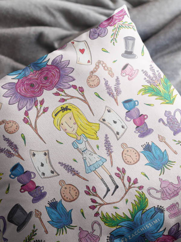 Zacchissimi Alice in Wonderland Cushion