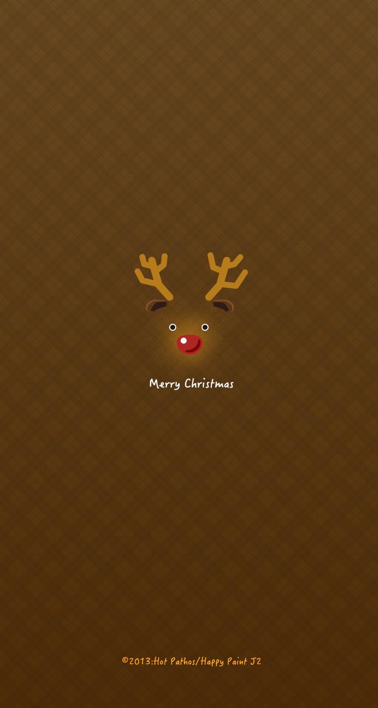 Iphone用クリスマス壁紙 トナカイ J2 Happypaint Awrd アワード