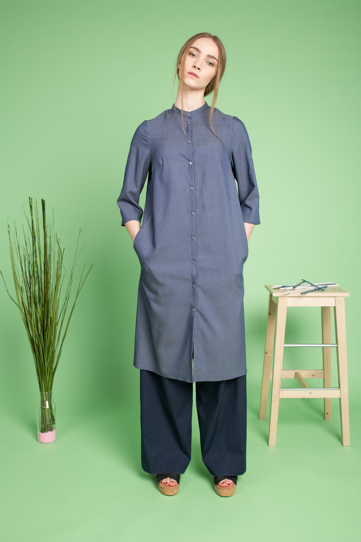 43fd9e7830c Рубашка-платье женская из тонкой джинсы в магазине «TOTOdesign» на ...