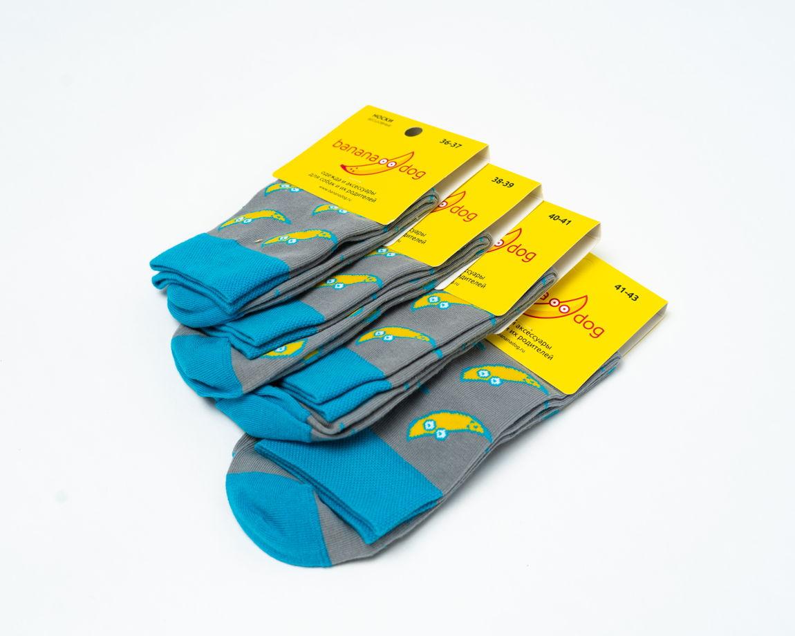 Носки с бананчиками-собачками