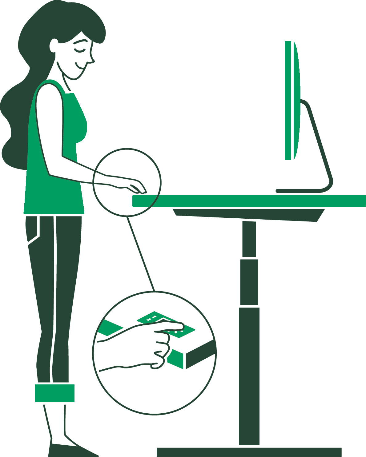 Adjust your sit-stand desk - ergonofis