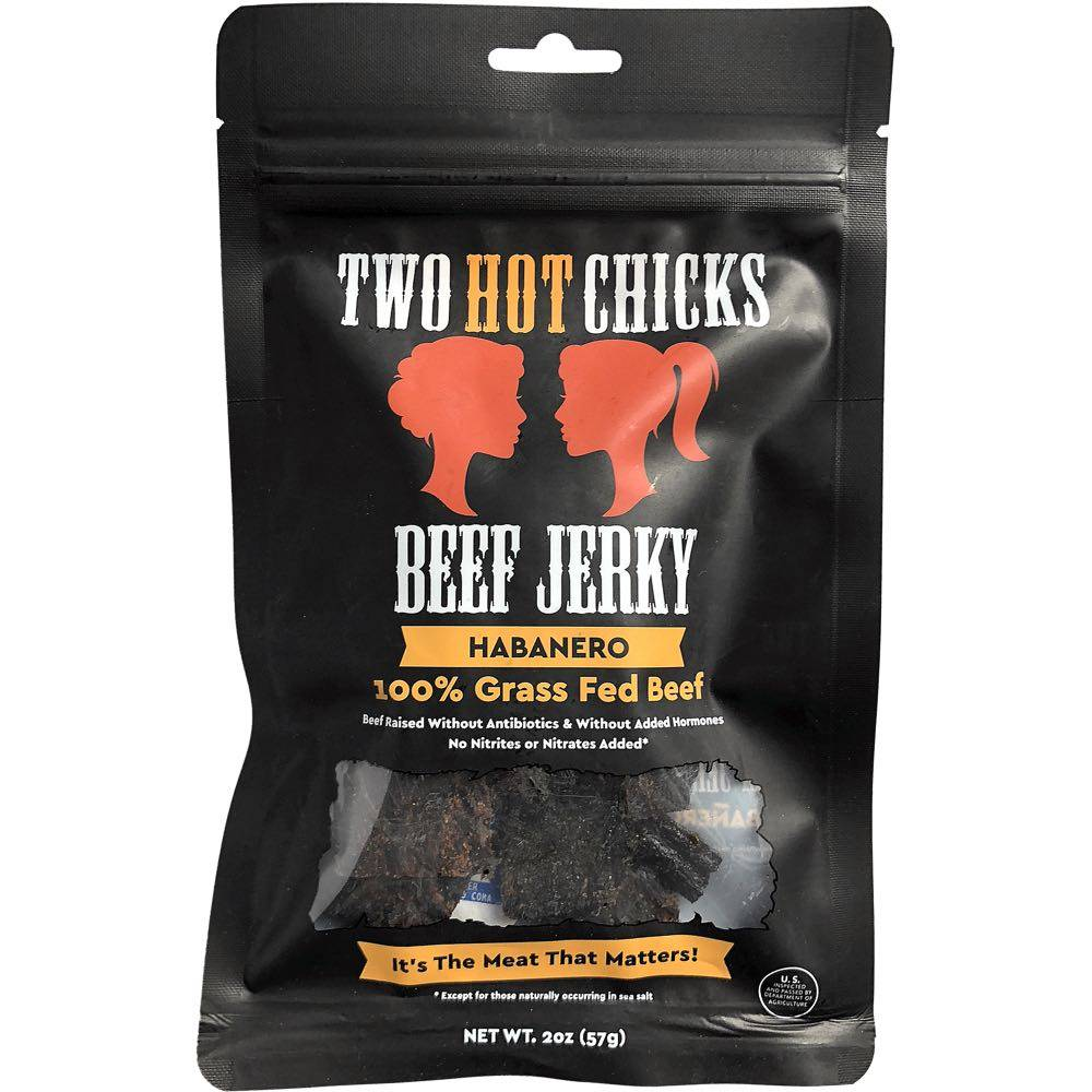 Two Hot Chicks habanero beef jerky
