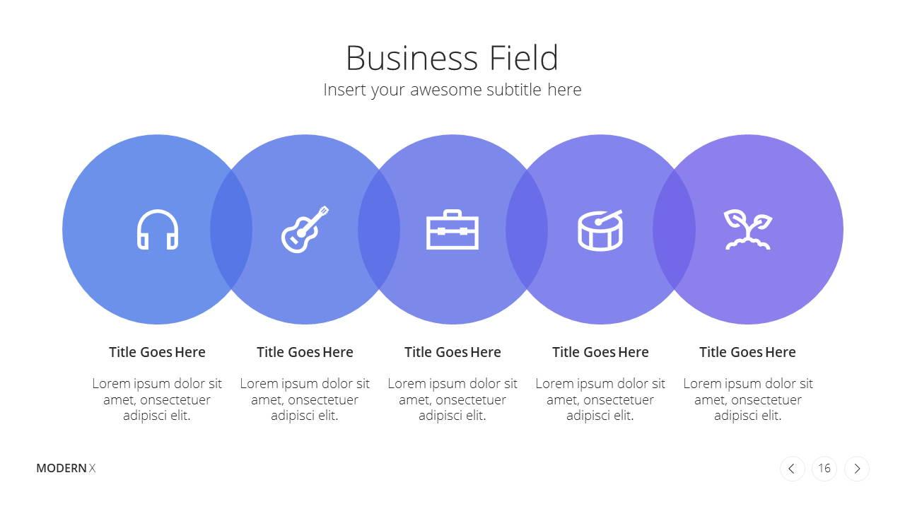 Modern X  Company Profile Presentation Template Business Fields