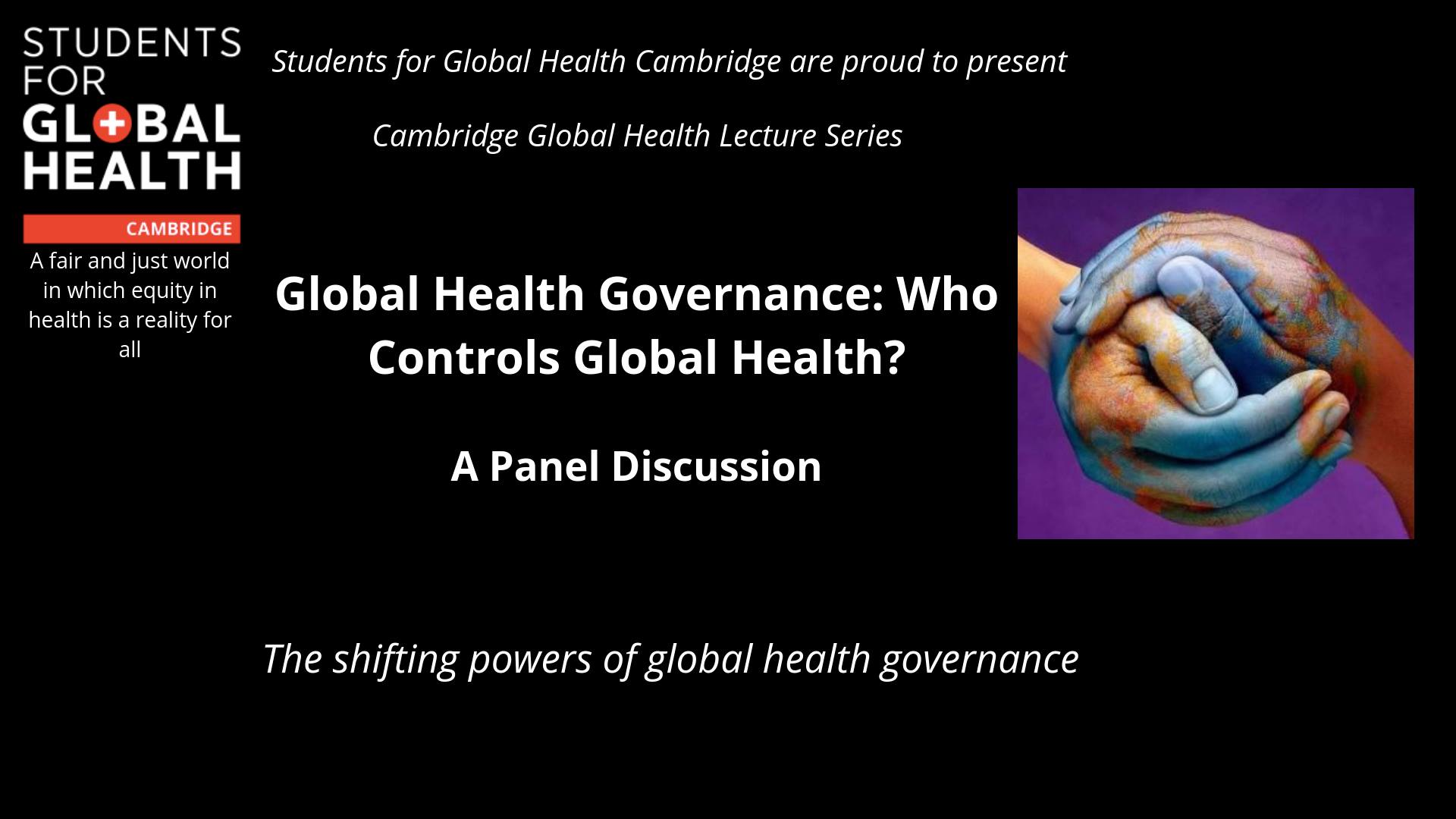 Global Health Governance, who governs global health?