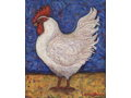 """White Rooster"" by Mary Klein (Giclée Canvas Art)"