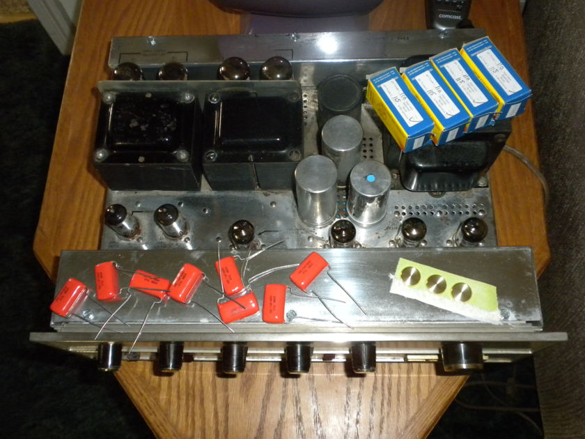 FISHER X-202C tubed amplifier restoration project