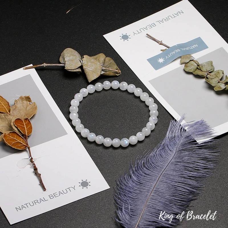Bracelet Mala en Perles de Pierre de Lune  AAA+ | King of Bracelet