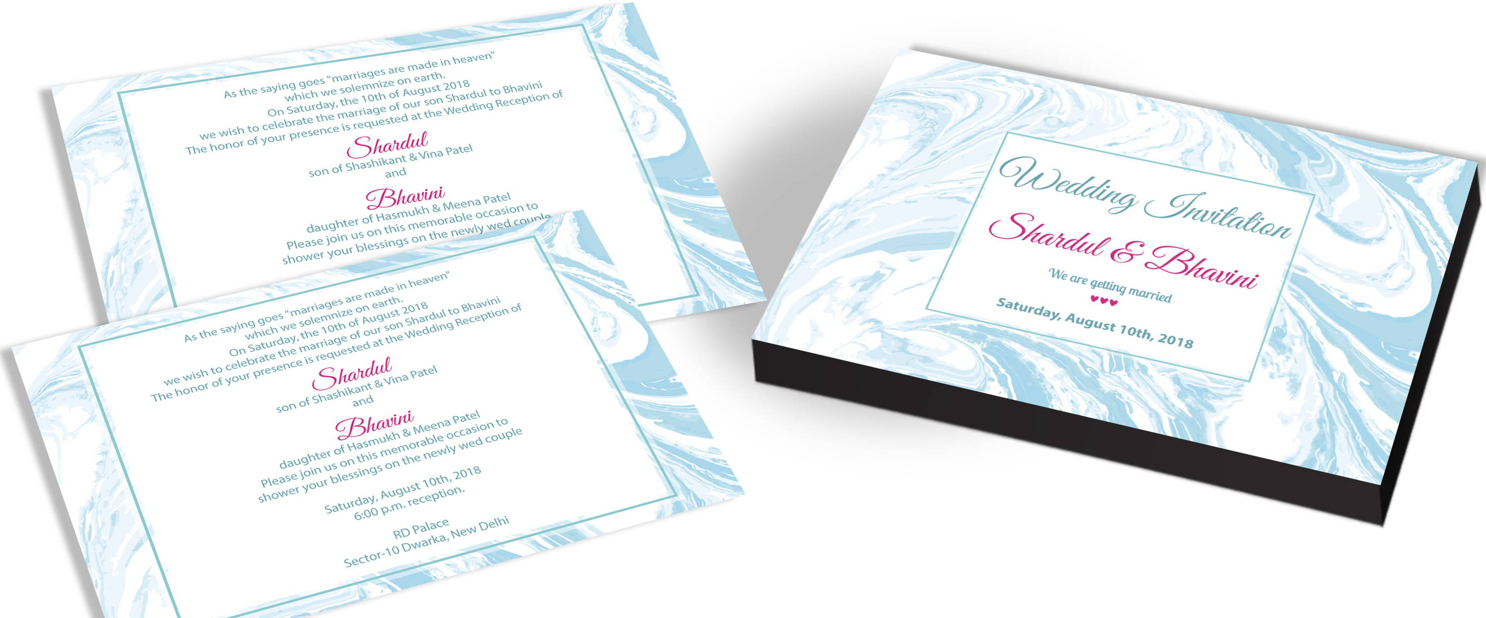 Stylish And Modern Wedding Invitation