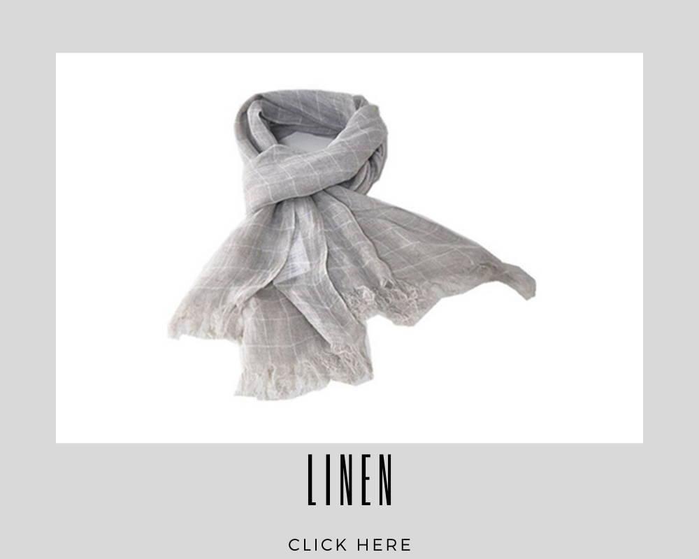 Linen Custom Scarf/Scarves