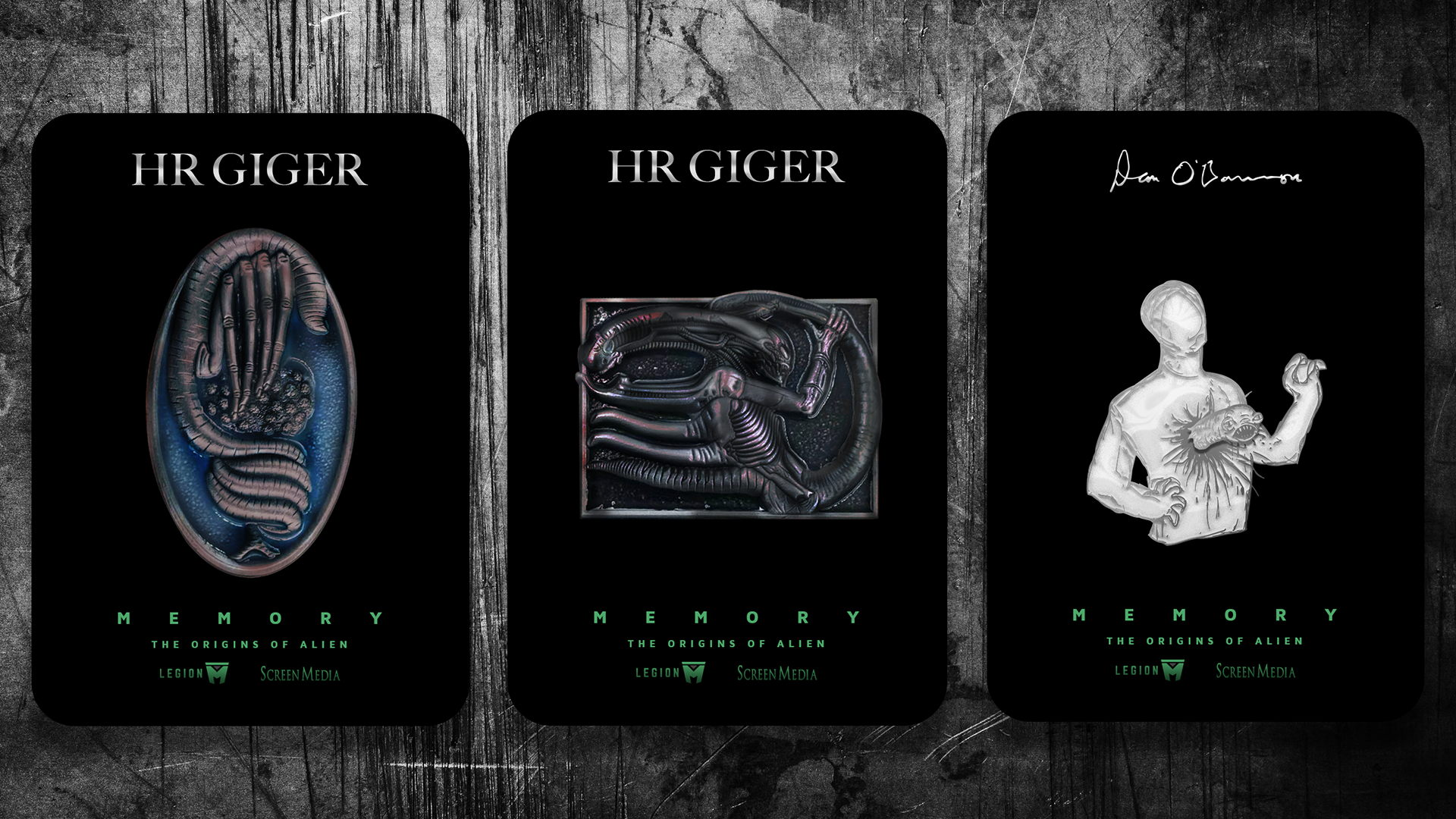 Legion M Limited Edition H R Giger And Dan O Bannon Pins