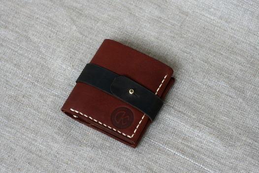 """Бумажник из натуральной кожи, модель """"QA"""""""
