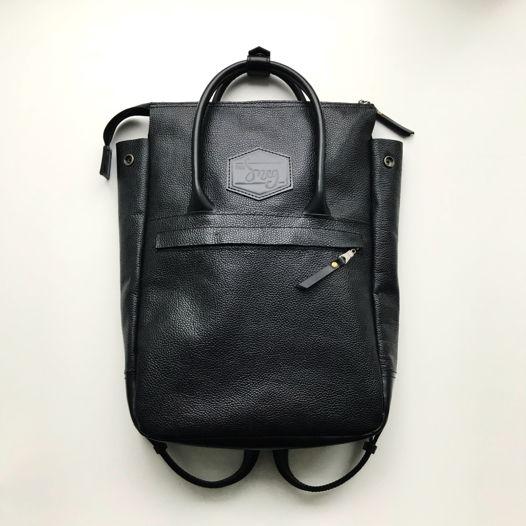 Кожаный рюкзак-сумка Urban Pack Black