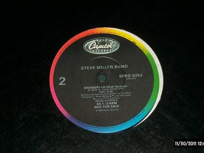 Steve Miller Band - Shangri-La promo 12 inch remix capitol