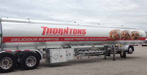 Image of Thorntons tanker