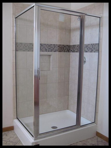 CERAMIC 48IN. CORNER SHOWER