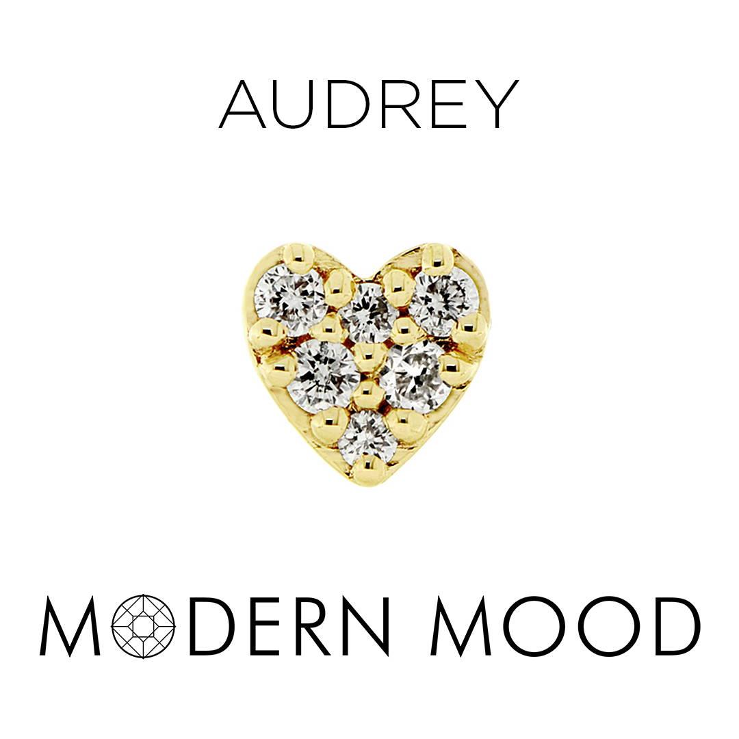 diamond heart piercing jewelry