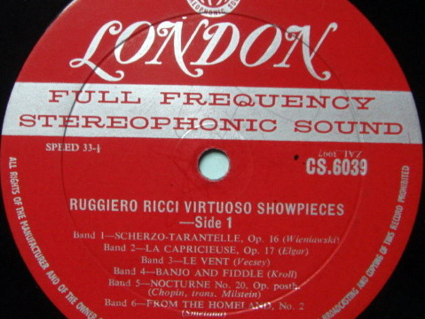★1st Press★ LONDON-DECCA FFSS-WB-BB / RUGGIERO RICCI, - Virtuoso Show Pieces, VG~VG+!