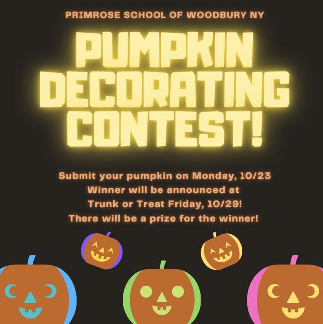 Primrose of Woodbury NY pumpkin decorating contest