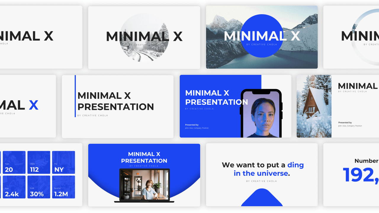 openers presentation template, title page presentation template