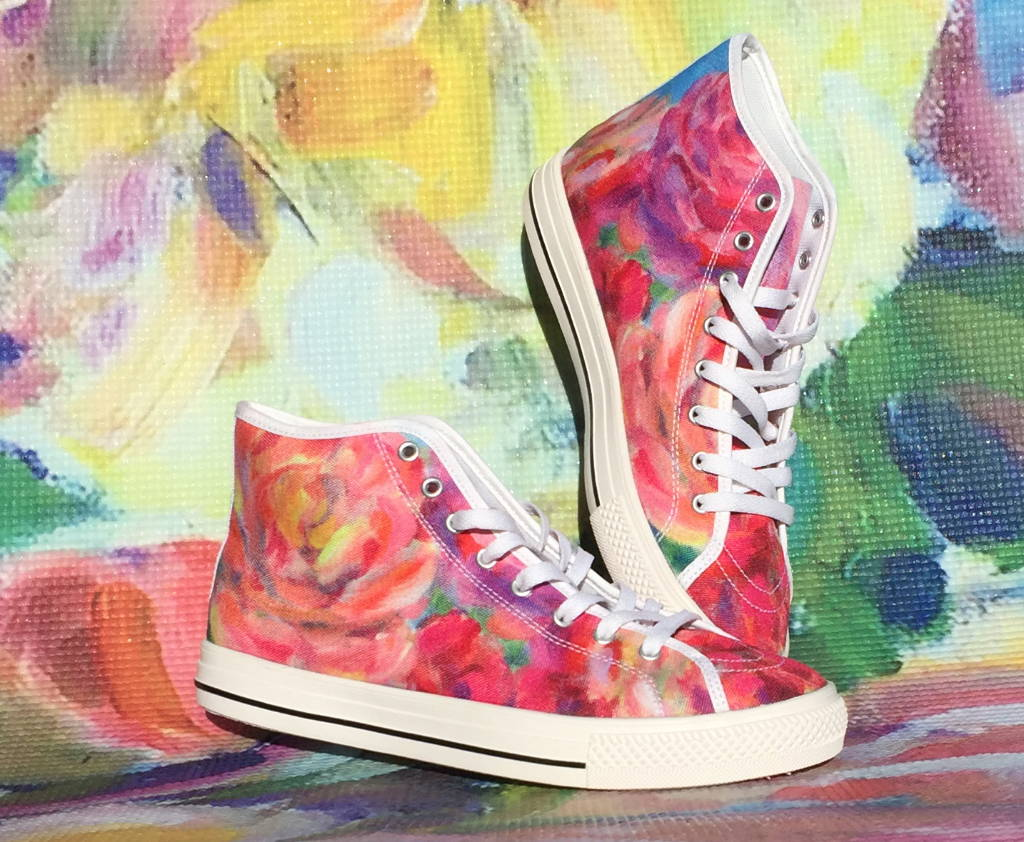high top sneakers by Liz Lauter