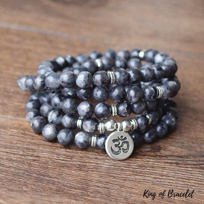 Bracelet Mala 108 Perles en Labradorite - King of Bracelet