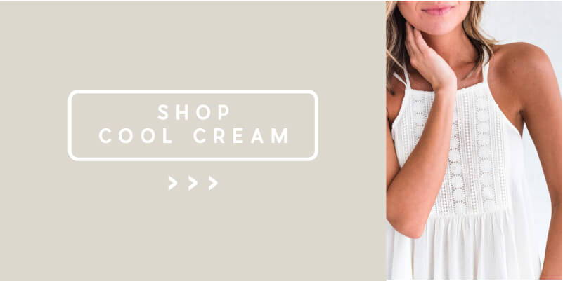shop cream and white spring color styles from bella ella boutique