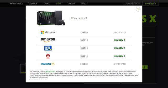 price xbox series x