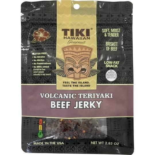 Tiki Hawaiian Volcanic Teriyaki Beef Jerky