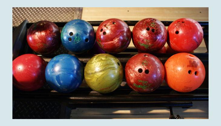 rainbow park bowling kugeln