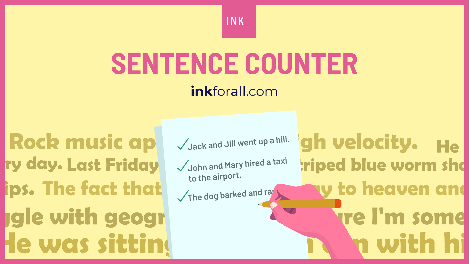 Sentence counter