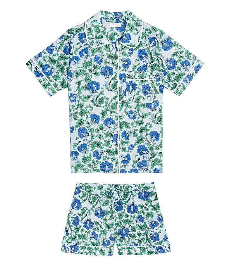 YOLKE Cotton Sleepwear | Marianne Celeste Hilary Short Set