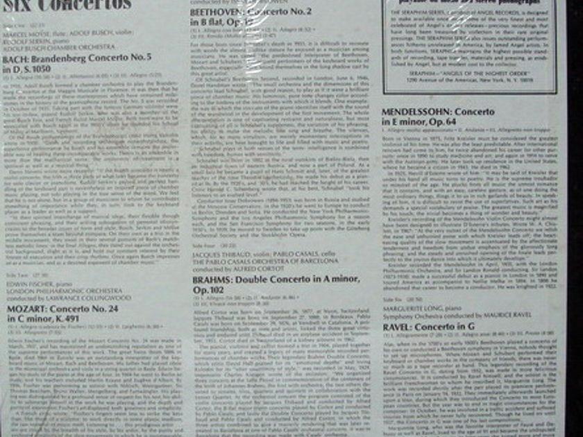 ★Sealed★ EMI SERAPHIM / CASALS-THIBAUD-KREISLER-BUSCH - Six Concertos, 3LP Box Set!