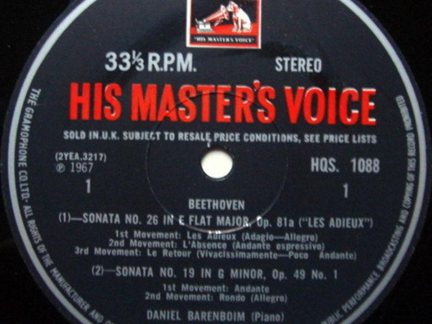 EMI HMV HQS / BARENBOIM, - Beethoven Piano Sonatas No.19, 26 & 32, MINT!