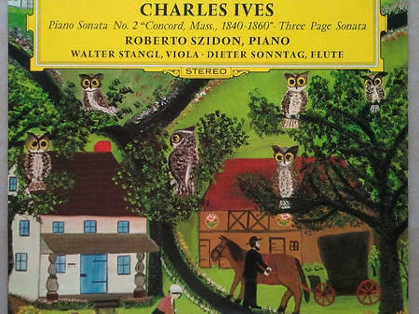 DG   CHARLES IVES - Piano Sonata No. 2, Three Page Sonata / NM