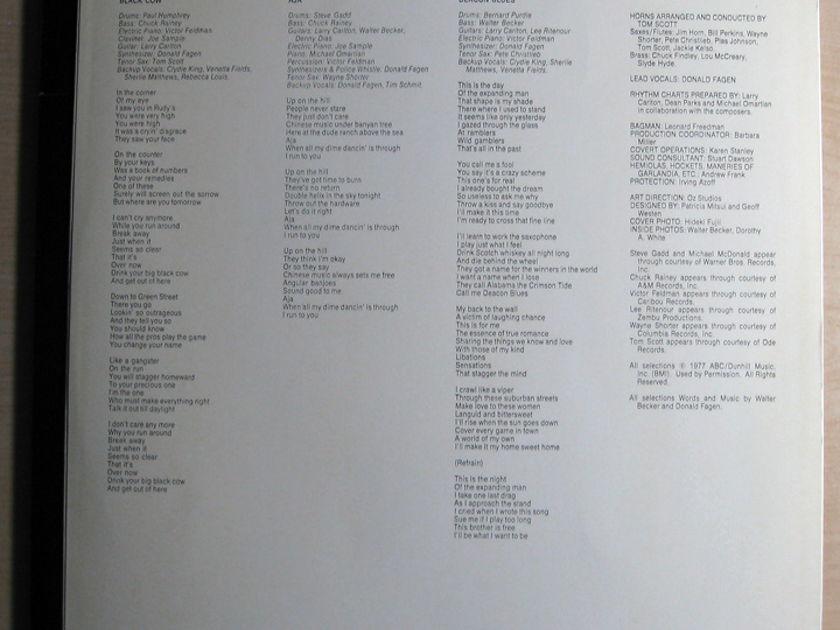 Steely Dan - Aja  - 1977  ABC Records  AA-1006