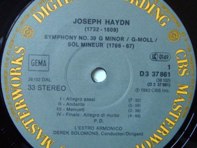 CBS Digital / SOLOMONS, - Haydn Symphonies No.35, 38, 39, 49, 58 & 59, NM, 3LP Box Set!