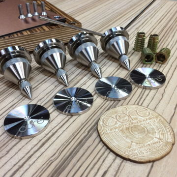 v.3 deluxe stainless steel spikes & coasters